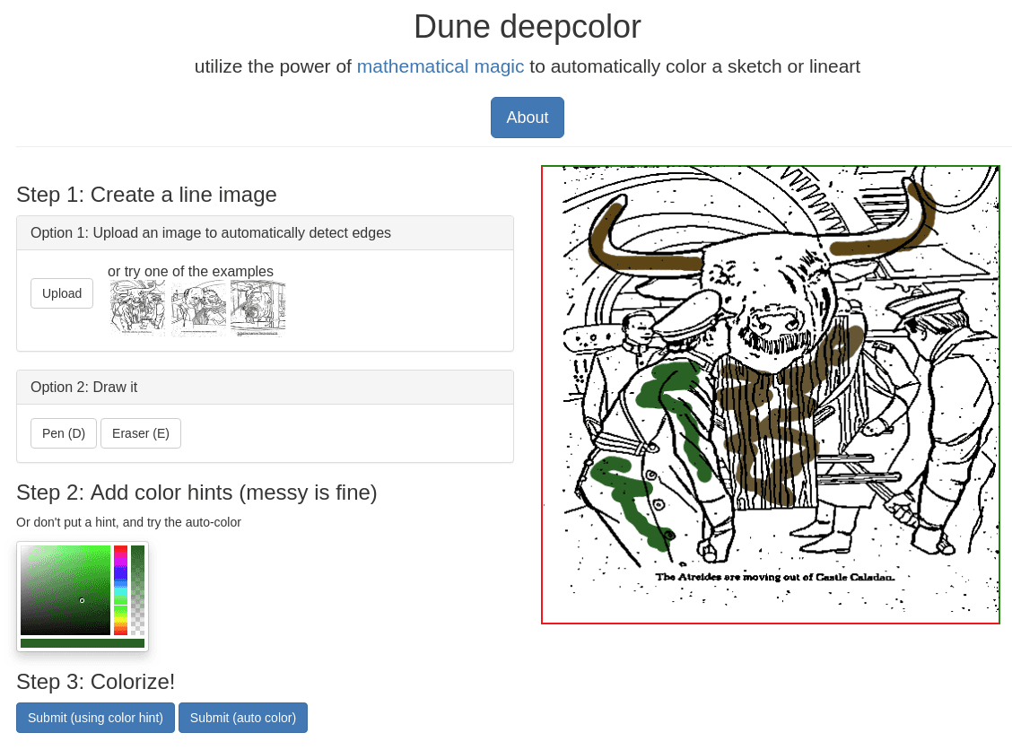 Dune coloring website example