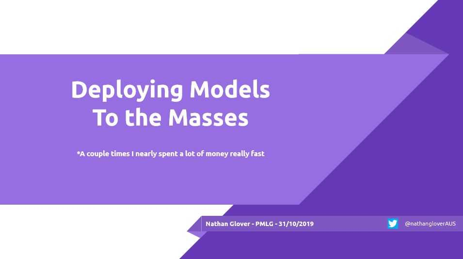 Deploying Models to the Masses